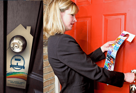 door to door flyer and door hanger delivery services